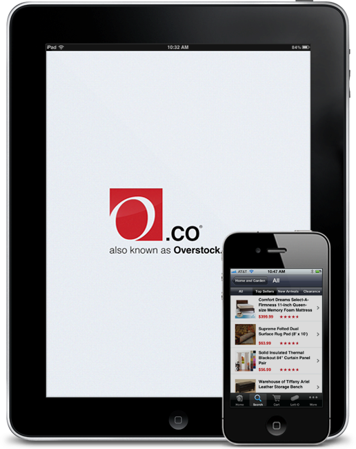 Overstock.com iPad and iPhone screenshot